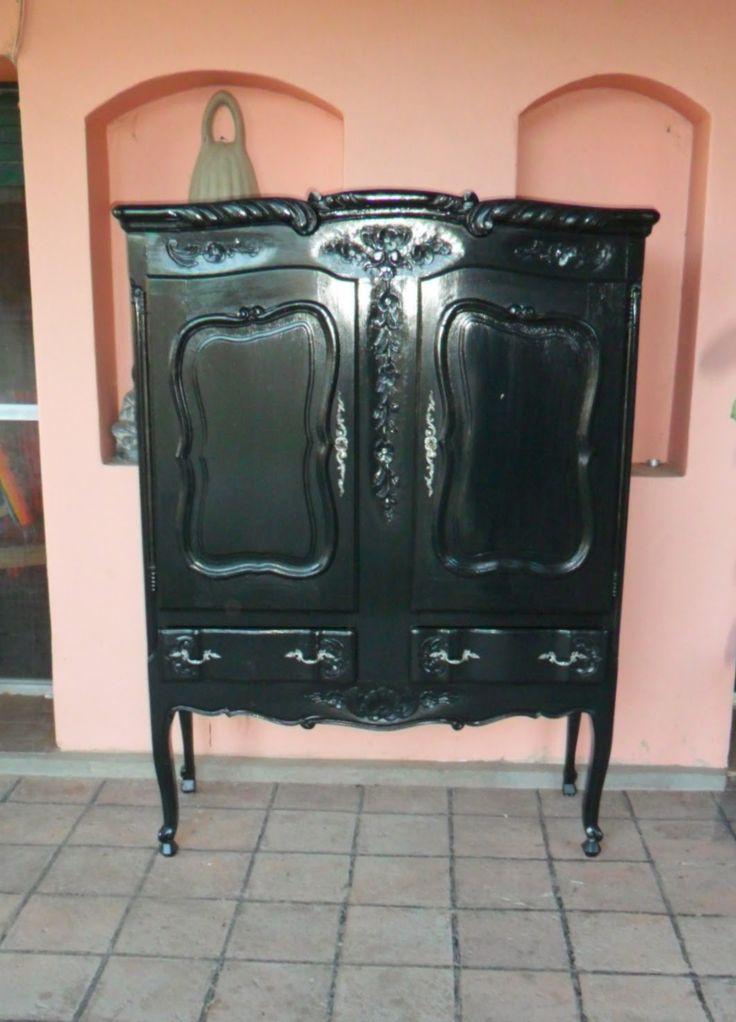 Copero provenzal te ido y laqueado en wengue muebles for Muebles antiguos reciclados