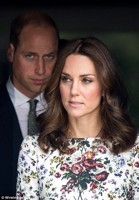 Both the Duke and Duchess looked sombre as they emerged from the museum...