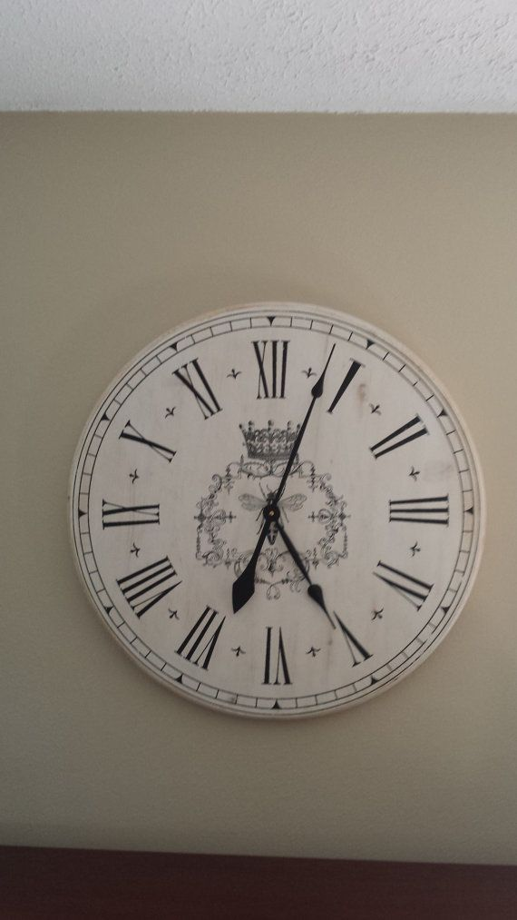 french country large wall clock by thealiviascloset on