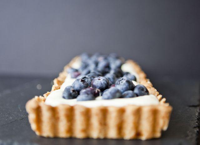 LEMON CREAM & BLUEBERRY TART | desserts | Pinterest