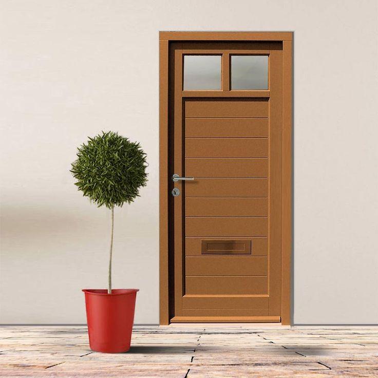 Dale High Performance Teddington Door & Frame Set - Fully Decorated. #daledoors #externalmoderndoor #contemporarydoor