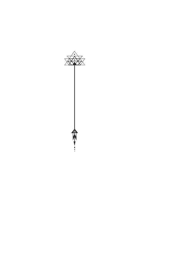 4- wrist with LIT written vertical beside: Geometric triangle arrow tattoo