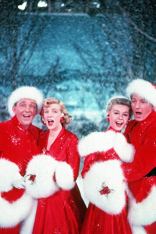 Bing Crosby, Rosemary Clooney, Vera Ellen and Danny Kaye in 'White Christmas', 1954.    My all time favorite holiday film!