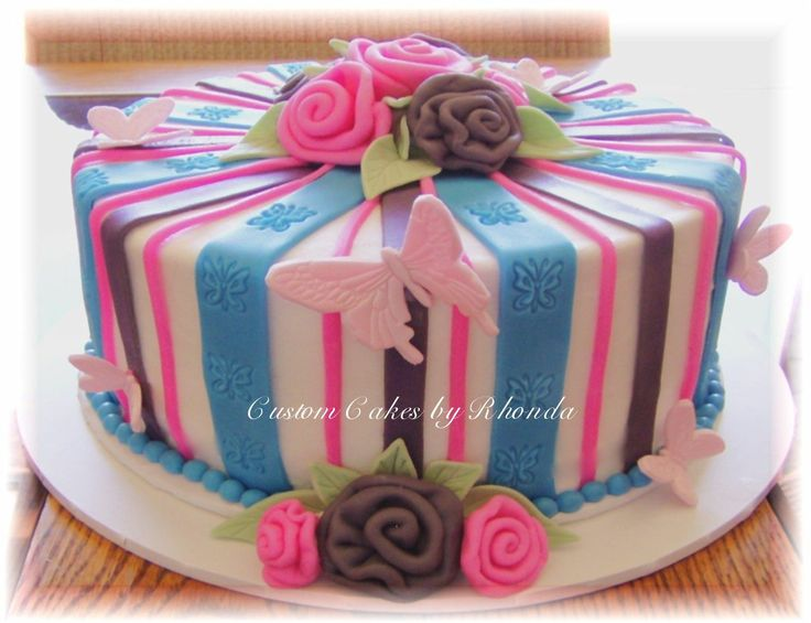 Cake Decorating Striped Icing : 100 Best images about Have your cake and... on Pinterest ...