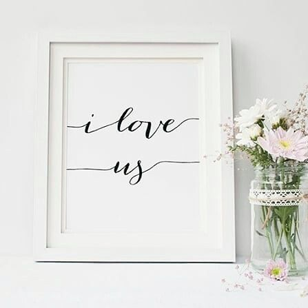 This beautiful modern calligraphy print can be a perfect gift for your Loved one on a special day: Valentines, Anniversary... Thanks @willowandbirchprints for the beautiful design! ❤ www.etsy.com/uk/listing/474616055 #valentinesday #couples #lovers  #iloveus #iloveyou #bemine #loveme #loveprint #framedart #wallart #walldecor #homedecor #decorations #lovequotes #quoteoftheday #mondayevening #mondays #valentinesgift #anniversarygift #smallbiz #mycreativebiz #makersgonnamake #hellosmallshop…