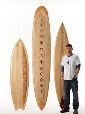 Wooden Surfboards: Wooden boards as art