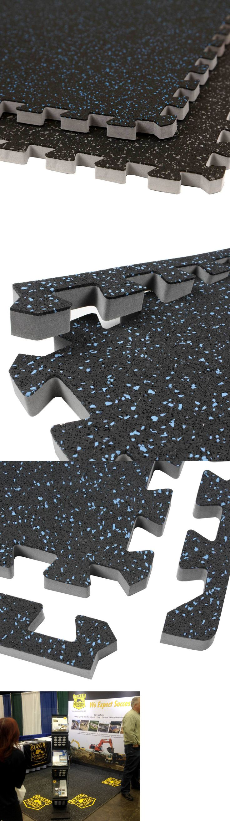 Rubber floor mat jigsaw - Exercise Mats 44079 Incstores Soft Rubber Tiles 2ft X 2ft Rubber Foam Combo Tiles For