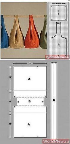 EL JARDIN DE LOS SUEÑOS: DIY bolsos de tela                                                                                                                                                      Más