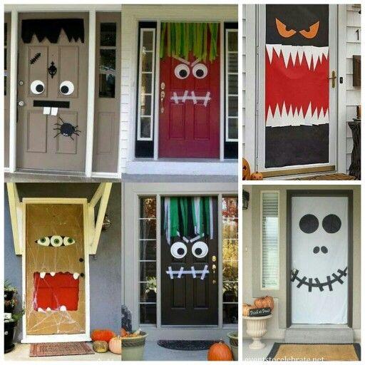 438 best halloween havoc images on Pinterest Halloween foods - scary door decorations for halloween