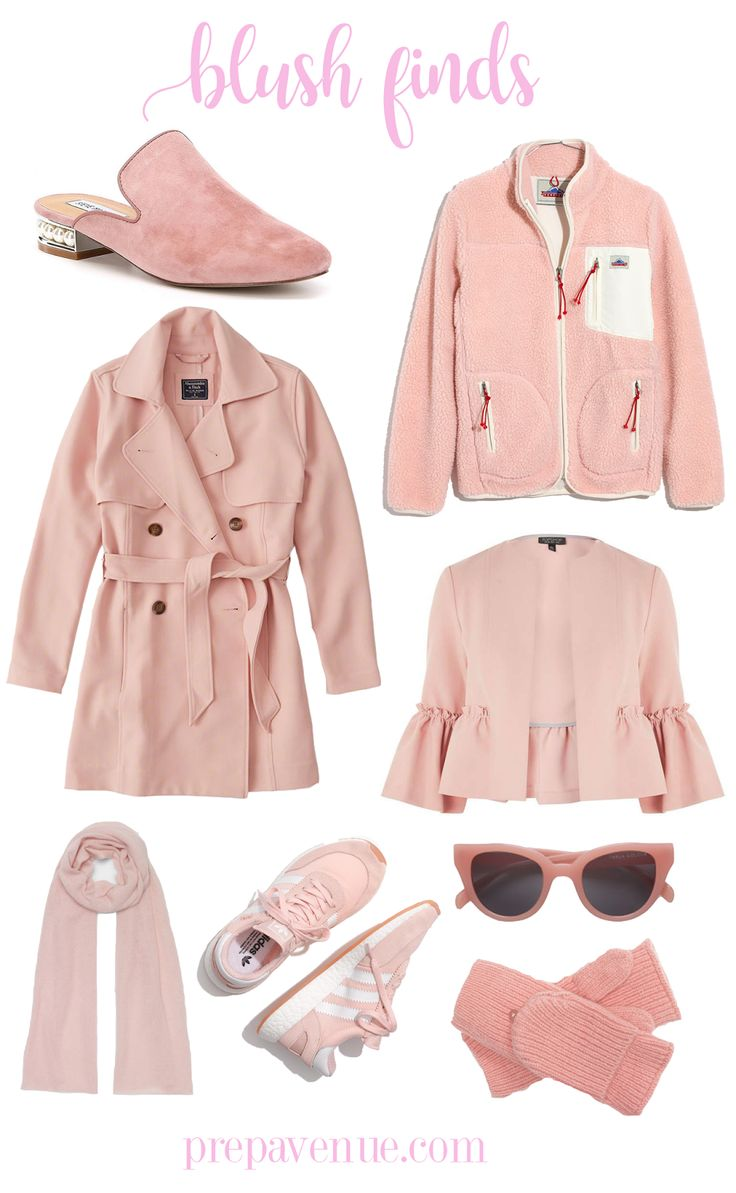 Blush Finds // www.prepavenue.com  pink, blush, clothes, outfits, looks, affordable, cheap, preppy, prep, southern, classy, south, dress, shoes, shirts, cute, style, sunglasses, jacket, scarf, coat, coats, slides