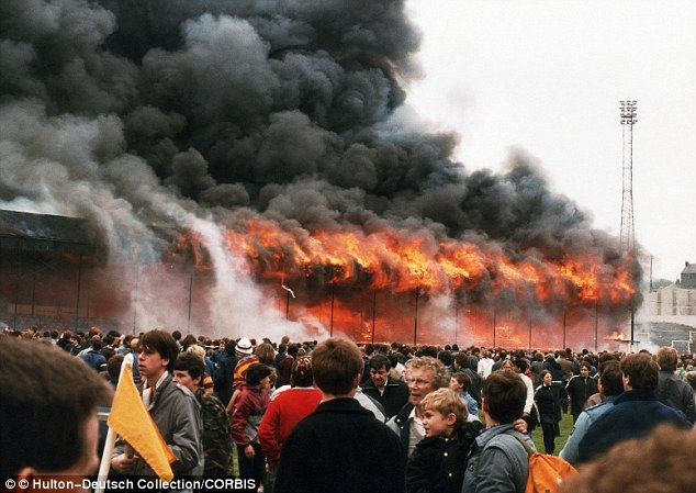Tragedy: The fire at Bradford City's Valley Parade claimed 56 victims and injured 265 on May 11, 1985