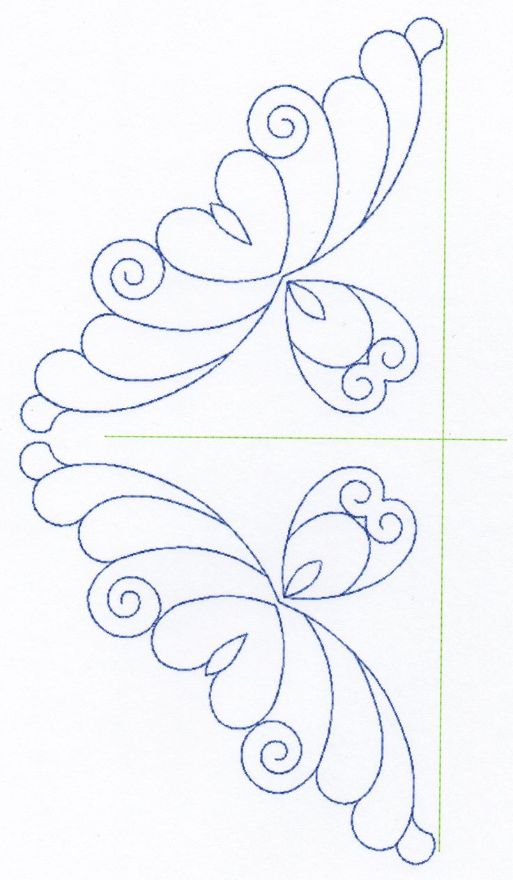 Free Continuous Machine Quilting Designs Feather