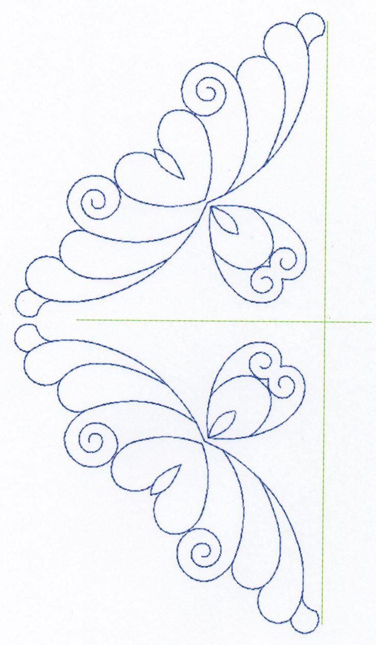 Free Continuous Machine Quilting Designs Feather Quilting Design Set 6 Longarm patterns ...