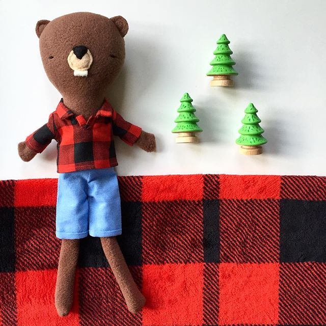 This adorable little beaver is now in the shop. Made exclusively for LBC by @sillydollscanada. Buffalo plaid on our national animal feels awfully Canadian! #new #littlebluecanoe #curatingcanada #beaver #buffaloplaid #madeincanada #nationalanimal