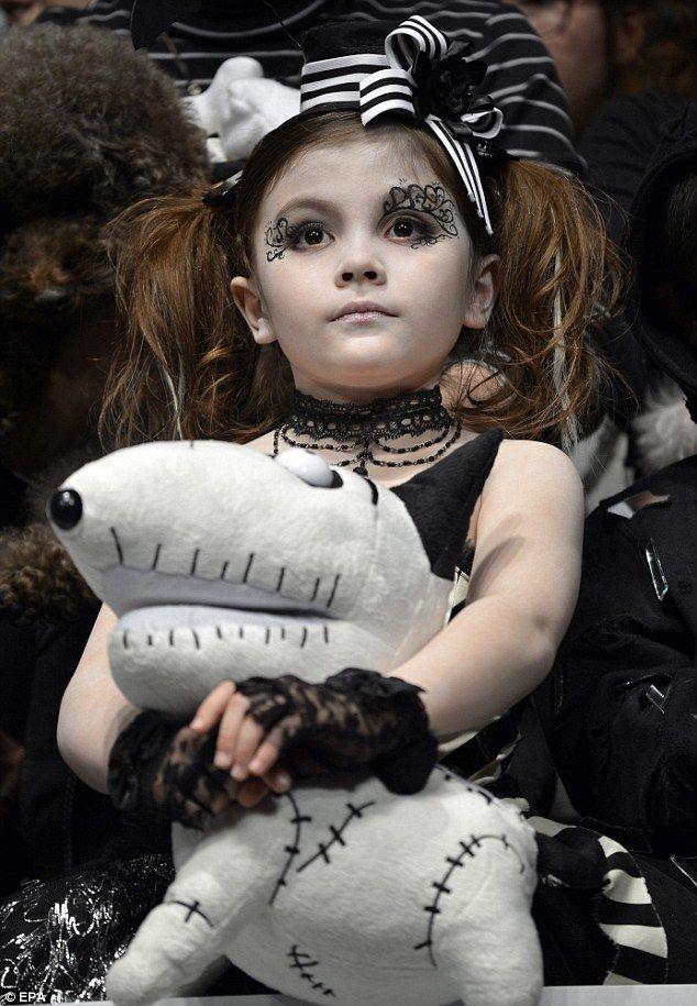 Gothic Style Mini Designers Pay Homage To Tim Burton 39 S Frankenweenie With Fiendish Fashion Show