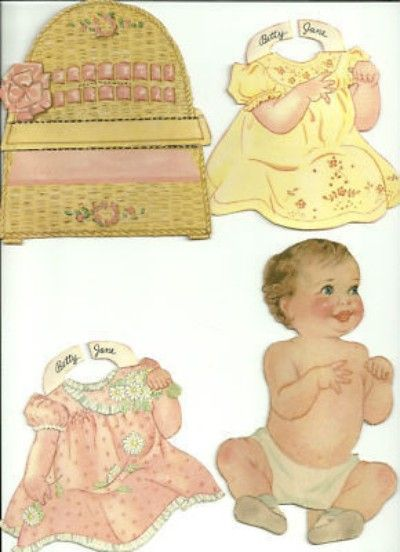 Vtg Our New Baby paper dolls Merrill 1937 LOVELY!! (05/27/2011)
