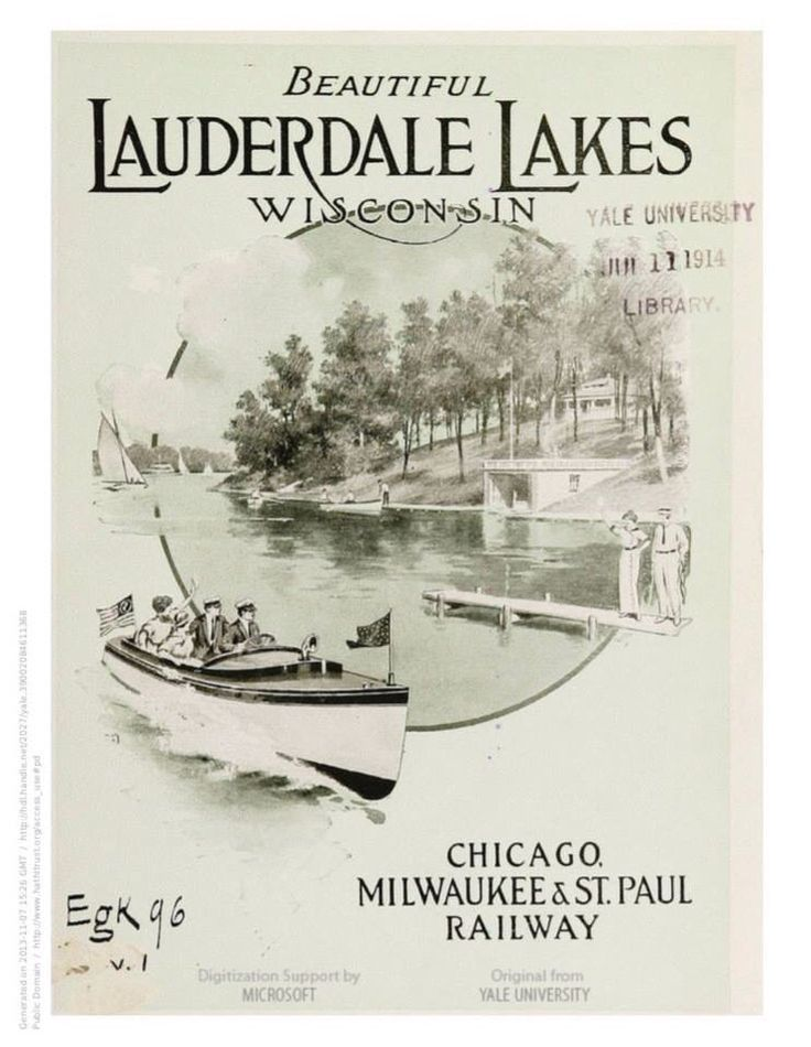 Early Lauderdale Lake Wisconsin booklet. Entire booklet can be seen at www.facebook.com/theboathouse.co #Lauderdale Lakes Wisconsin #vintage Lauderdale Lakes