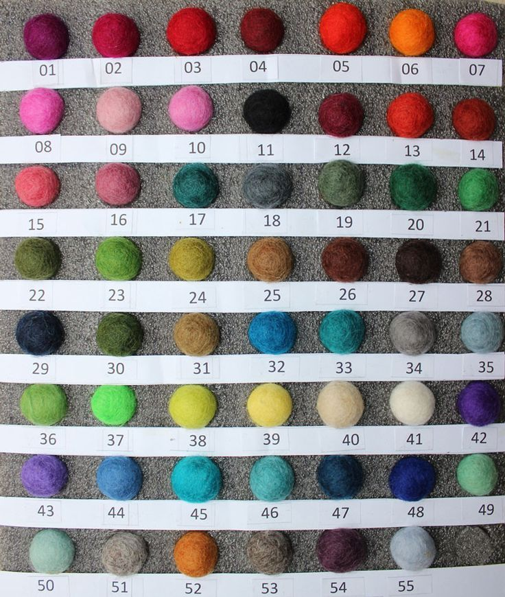Felt Ball Rug Colour Chart If You Wish To Receive A Sample Of The