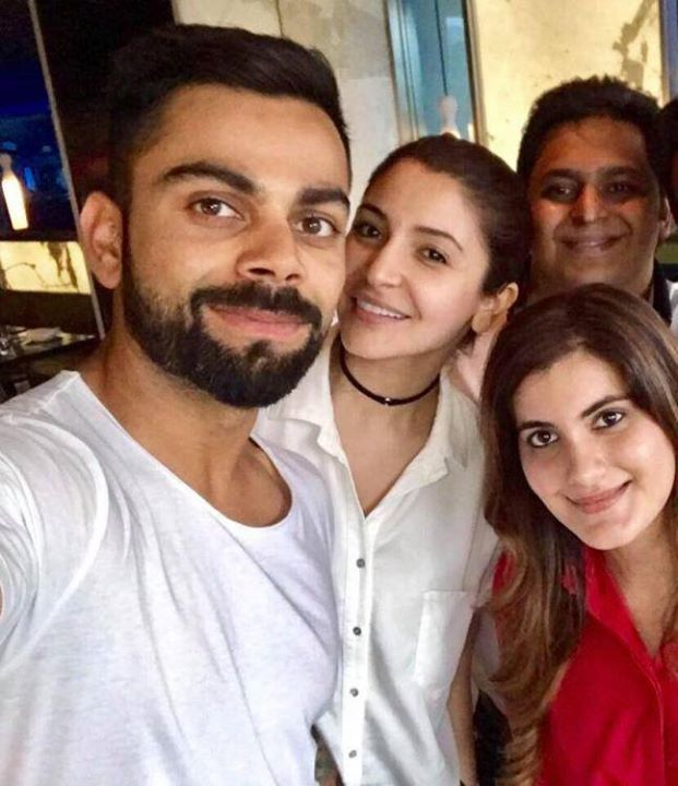 Virat Kohli's latest selfie with girlfriend Anushka Sharma & friends For more cricket fun click: http://ift.tt/2gY9BIZ - http://ift.tt/1ZZ3e4d