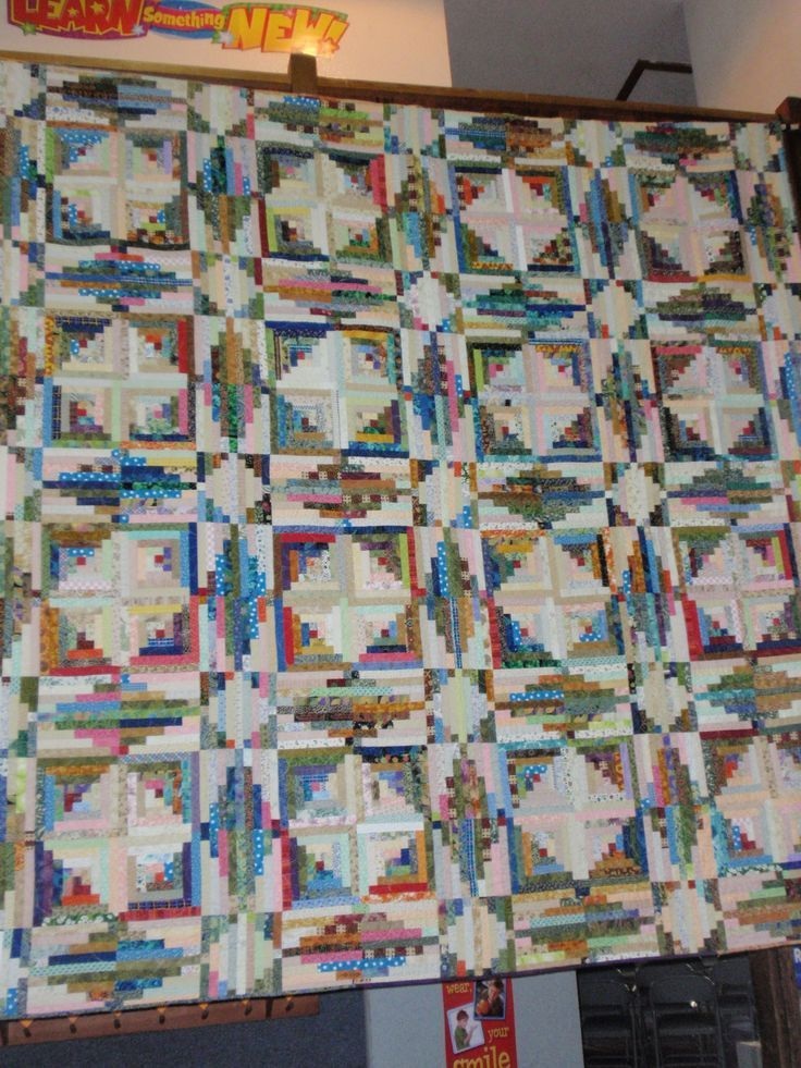 Storm at Sea Log Cabin quilt variation. A pattern for this appeared in the Mix Mastery chapter of Judy Martin's Log Cabin Quilt Book.