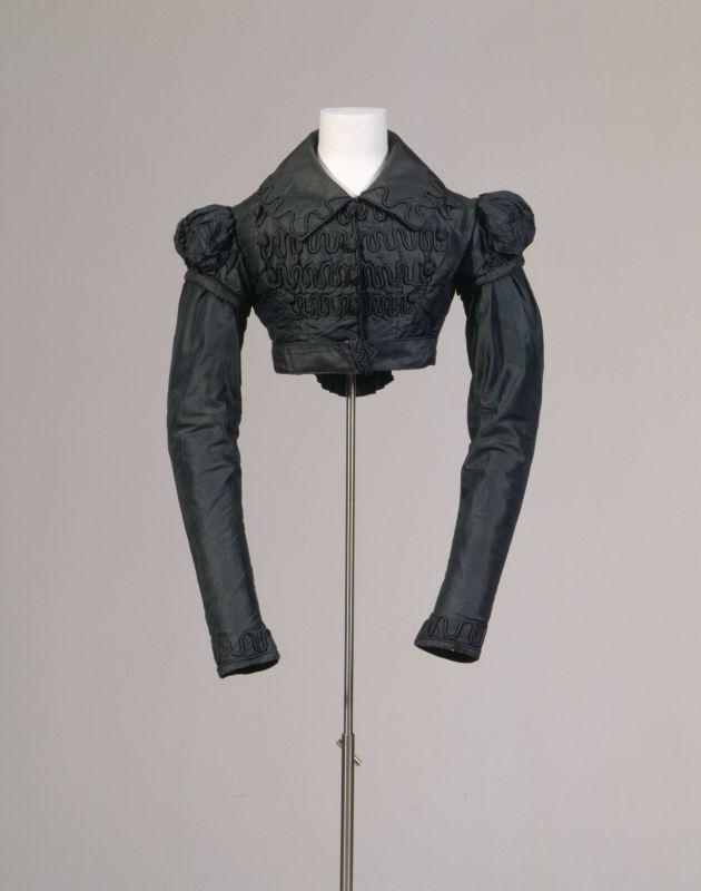 Black silk Spencer jacket (German), circa 1815. Germanic National Museum