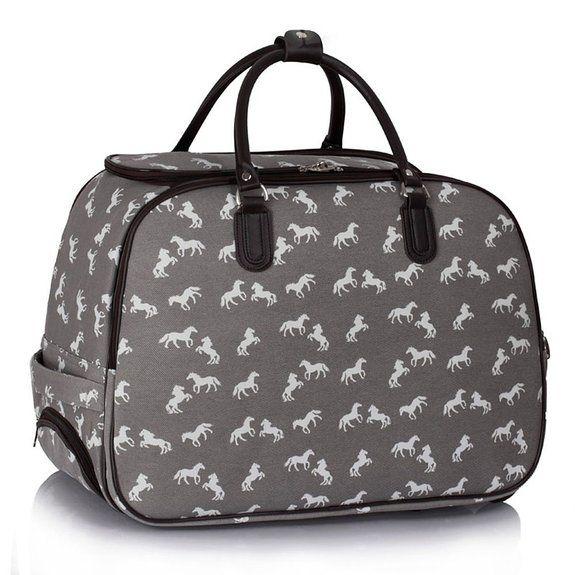TrendStar Meine #Damen #Reisetaschen Holdall Frauen Handgepäcks Pferd Print Wochenende Rolliges Laufwerk #Handtasche