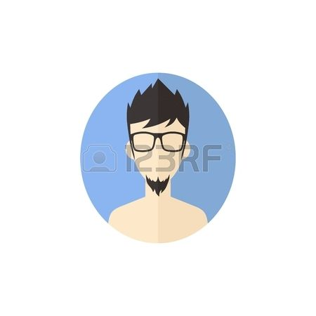 hombre inconformista avatar del usuario imagen de dibujos animados del vector del carácter de la ilustración del vector