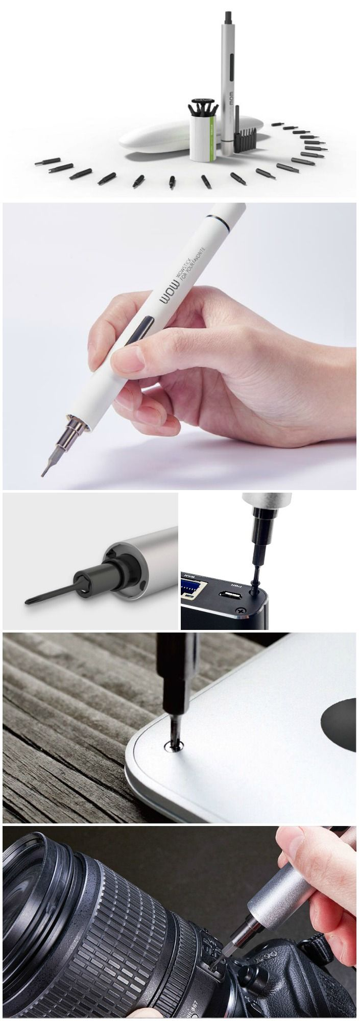The Wowstick is the first-of-its-kind portable cordless precision screwdriver perfect for home appliances, electronics as well as hobbies and crafts.