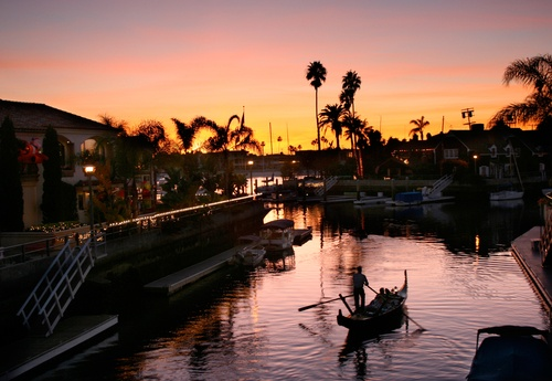 Perfect occasion for a gondola ride. Happy Valentine's Day Long Beach!