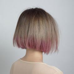 Dip Dye #coloredhair #pinkhair