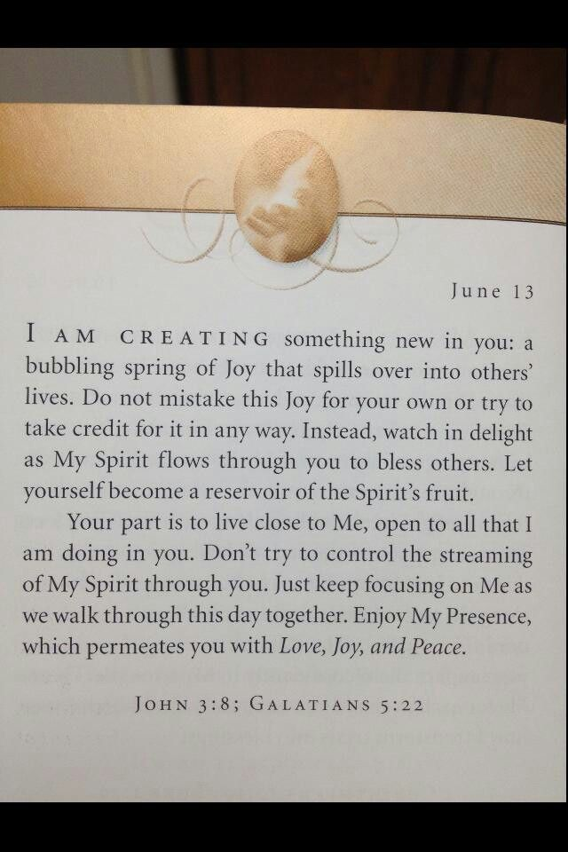 Sometimes I forget to be humble in the joy my faith gives.  It's all a gift from him.  Check this author out  'Jesus Calling' by Sarah Young
