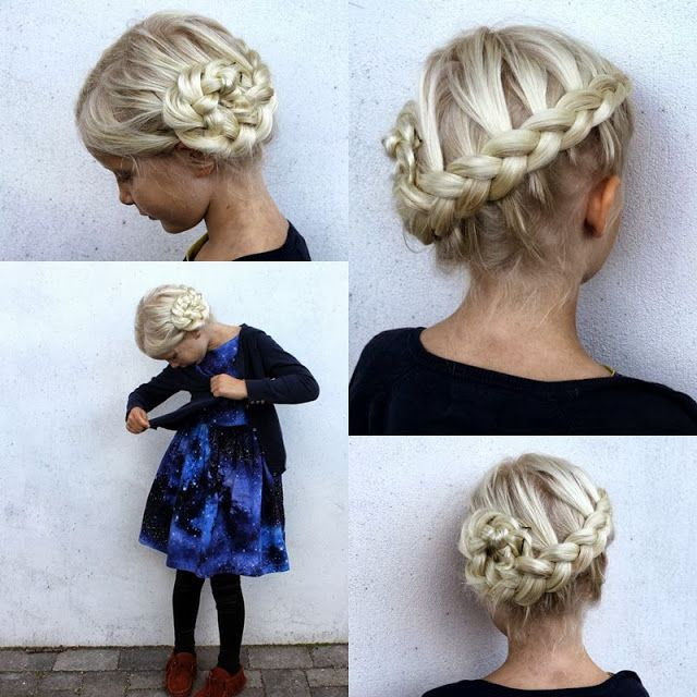 Dutch braid side bun