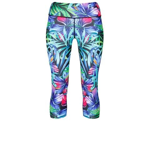 Tikiboo Tropical Flowers Capri #Activewear #Gymwear #FitnessLeggings #Leggings #Tikiboo #Running #Yoga
