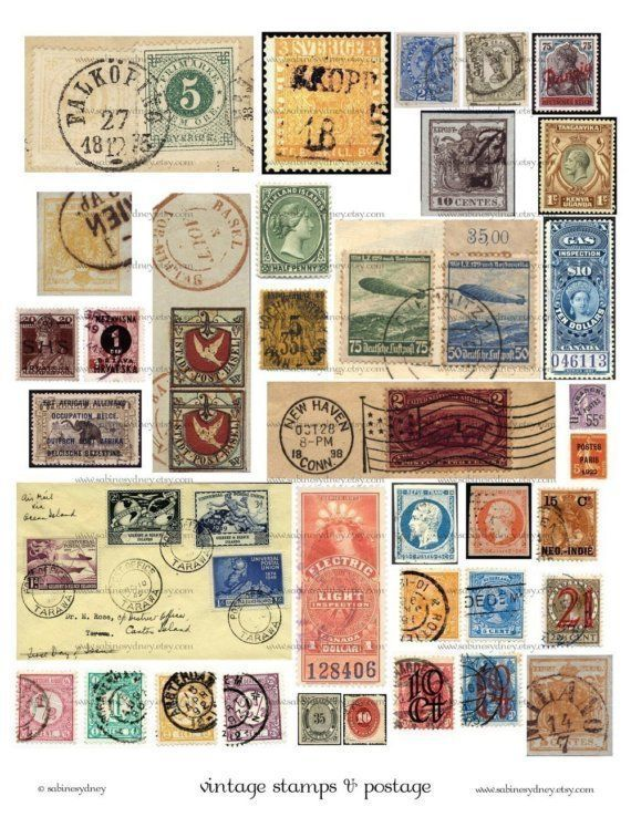 Image Result For Free Printable Vintage Stamps