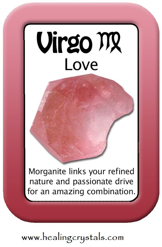 Astrological Love Cards that show a crystal that resonates with each Zodiac…