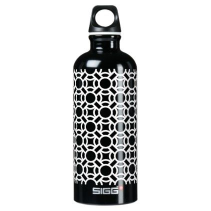 Seamless White Pattern DIY Background Color Aluminum Water Bottle - diy gifts cyo creative personalize