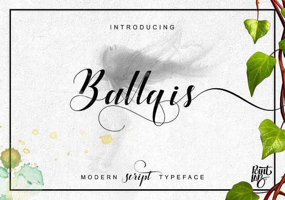 Ballqis Script_OFF 40% by pointlab on @creativemarket