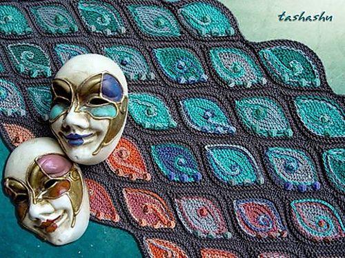 Стирки: проект галереи для вязаный узор шарфа Венеции Светлана Гордон
