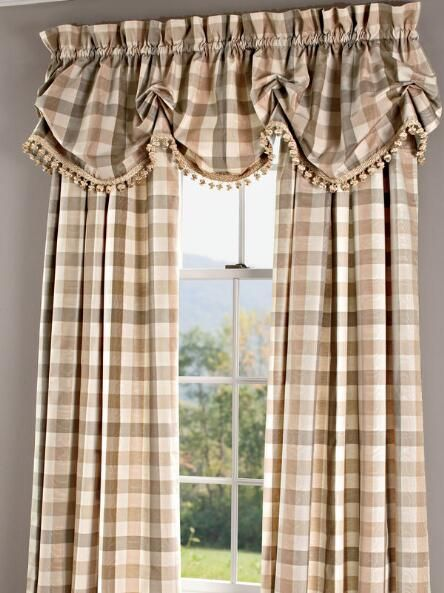 Country Curtains - not the valance, just the drapes and color.  They go with your Livingroom drapes.