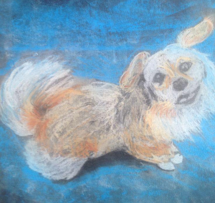 Emma, my Greek dog. She is dead.