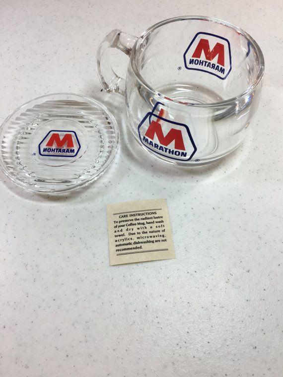 #Marathon Oil Company Clear Plastic Acrylic by Oldtonewjewels