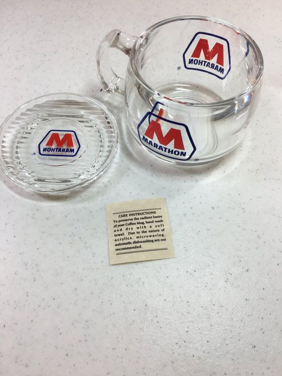 #Marathon Oil Company Clear Plastic Acrylic by Oldtonewjewels