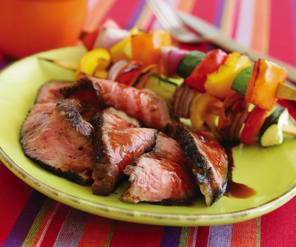 Slideshow with Recipes: Labor Day grilling without the labor [pictured: Bourbon & Brown Sugar Marinated Steak]. I highly recommend the Quick Tandoori Chicken recipe from this slideshow - it was a huge hit especially with the kids!