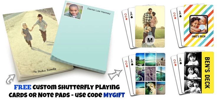 Shutterfly: FREE Custom Playing Cards or Note Pads (Up to $19.99 Value) AND 100 Free Prints – Hip2Save