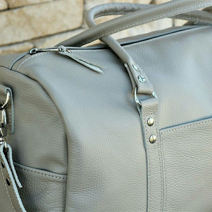 New duffel bag made of full grain italian leather with rolled handles