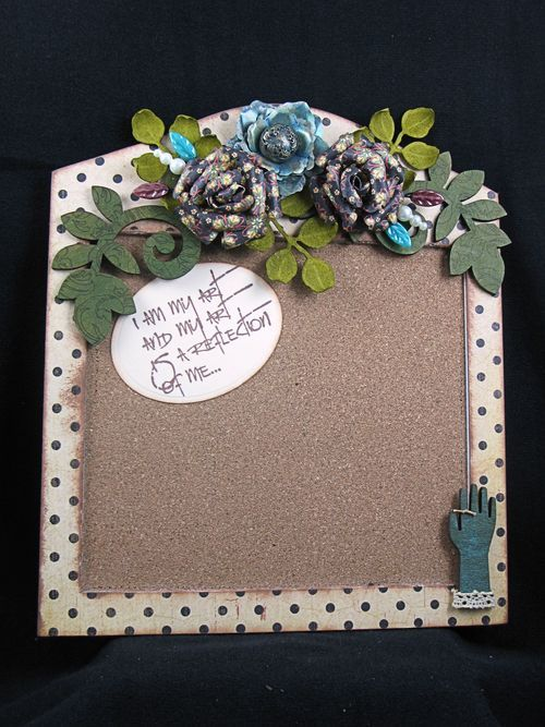 What an incredible corkboard by @Sherry S Cheever! We would actually use ours if it was as beautiful as this! Great gift idea or for your desk area at home!