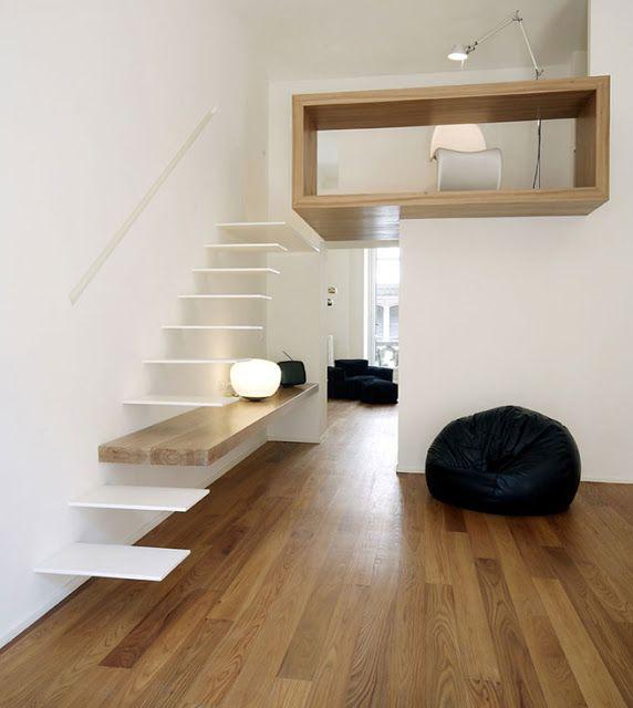 escaleras que menos espacio ocupan espacios reducidos
