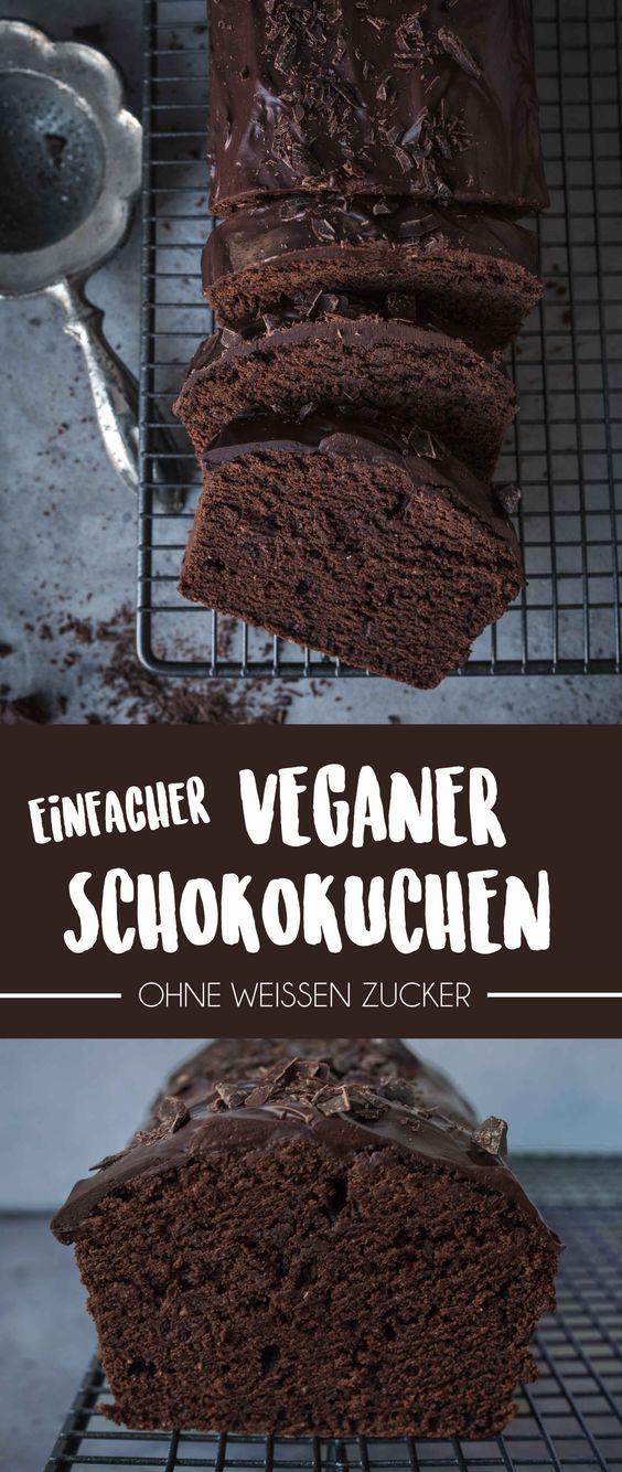 Bolo de chocolate vegan simples sem açúcar branco