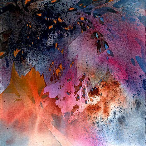 Linda Kemp - watercolor negative painting - see more of her work in watercolor and acrylics here: http://www.lindakemp.com