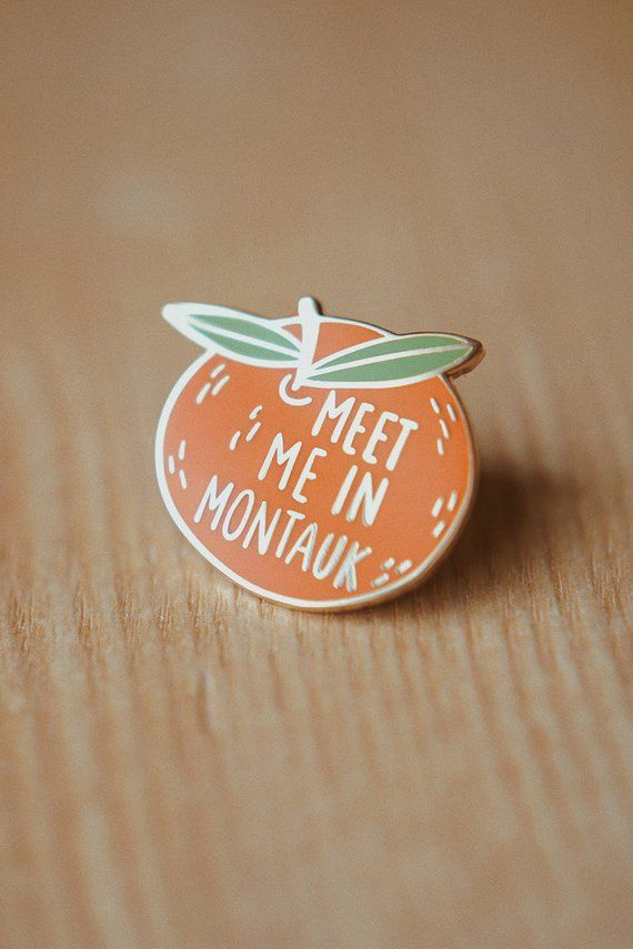 Clementine Meet Me In Montauk Enamel Pin Hard Enamel Lapel Pin